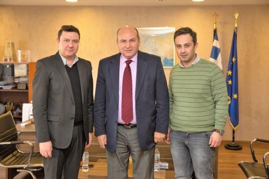 Τζανέτος ΦΙΛΙΠΠΑΚΟΣ - Συνάντηση με τον Δήμαρχο Αγίας Βαρβάρας