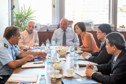 Τζανέτος ΦΙΛΙΠΠΑΚΟΣ -Συνάντηση με Διπλωματικές Αρχών της Λαϊκής Δημοκρατίας της Κίνας 1